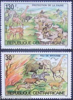 Central African Republic CAR 1984 set MNH - Wildlife Conservation - combine post