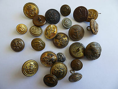 lot of Vintage Australian or British NAVY BUTTONS
