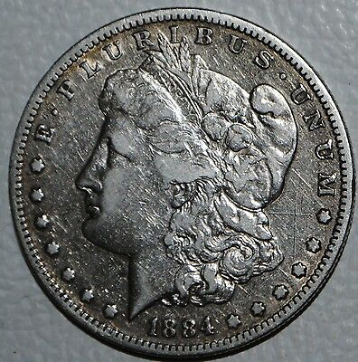 1884 S Morgan SILVER DOLLAR $1 Coin United States