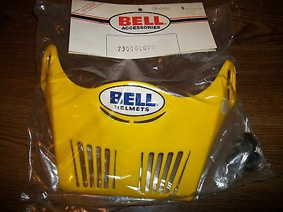 Bell Vintage Moto 5 helmet visor Yellow New old MX Vented visor Bell motocross