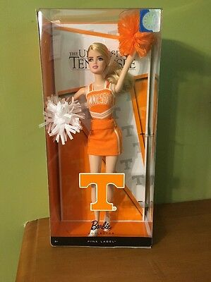 Barbie Collector Pink Label University Of Tennessee Volunteer Cheerleader Doll
