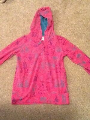 "Next girls pink hooded "" hello kitty"" top Age 11 yrs"