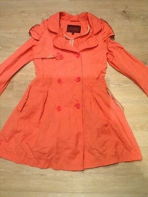 Ted Baker girls lightweight long raincoat/mac Age 9 yrs
