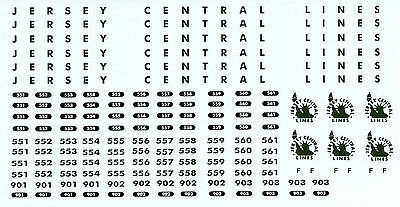 2-08 Jersey Central Lines (CNJ,CRR of  NJ) O Scale RDC Decals