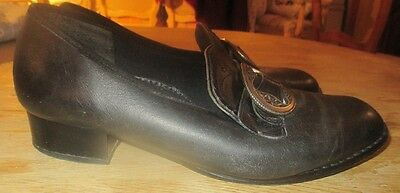 Klaveness Leather Bunad shoes  size 6 made in Norway. FREE SHIPPING