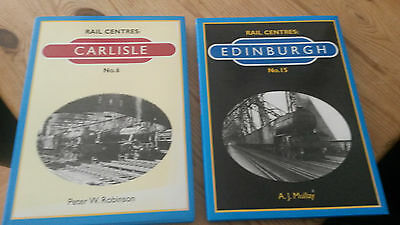 locomotive  Books qty 2railway centres edinburgh & carlisle see picture