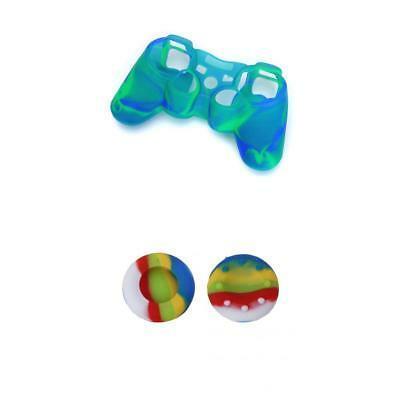 Game Controller Cover Case Skin 2 Colorful JoyStick Caps for Sony PS2 PS3
