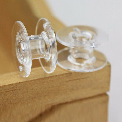 25 Pcs/Set Clear Bobbin Home Sewing Machine Plastic Spools Thread Brother Singer