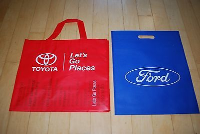 Toyota Shopping/Tote Bag - Red recycled Grocery + Ford NEW Recycling