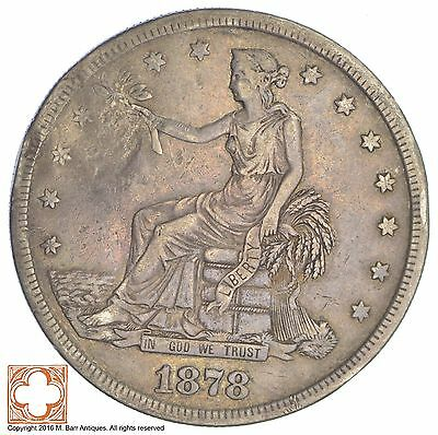 1878-S Trade Seated Liberty Silver Dollar *XB98