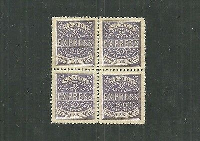 SAMOA STAMPS BLOCK OF 4 #4c (NH) FROM 1877-82.