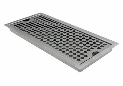 Beer Drip Tray Draft Drain Stainless Steel Mount No Wall Kegerator Bar Spill