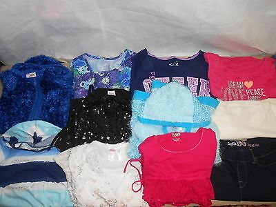 Girl's 11 Piece MOSTLY NEW Justice, GAP, & TCP Clothing Lot Size 10