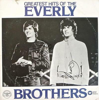 The Everly Brothers Signed Autographed Album 2 LP Records Warner Records