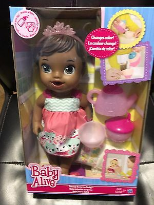 BABY ALIVE Cup Surprise Baby DOLL, TEA PARTY, DRINK & WET DOLL AFRICAN AMERICAN