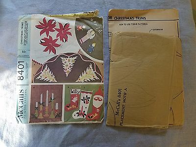 McCall's 8401 vintage Christmas pattern Trims for decorating 1966