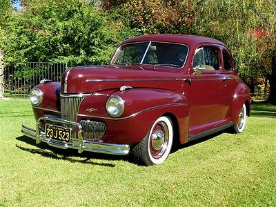 1941 Ford Other Super Deluxe 1941 Ford Super Deluxe Coupe 4 Wheel Discs, 5-Sp Restored Modern Driver Flathead