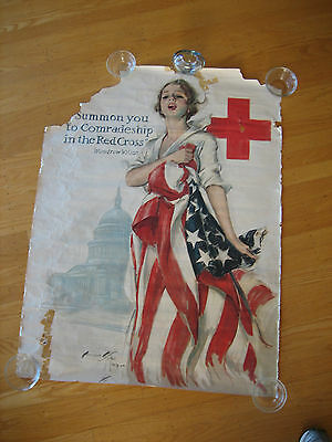Original Harrison Fisher Red Cross Poster