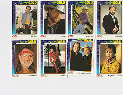 Lot of 21 Country Gold Trading Cards Collection CMA Country Music Association 92