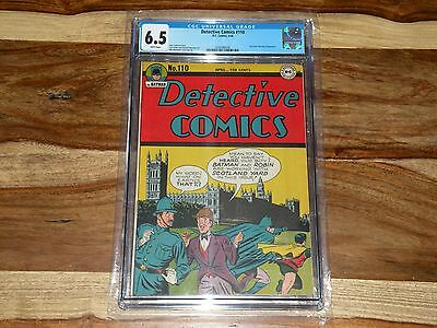Detective Comics #110 ~ 1946, DC ~ CGC ~ RARE WHITE PAGES ~ EARLY BATMAN & ROBIN