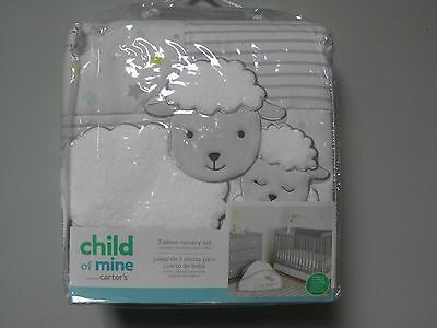 Carter's Child Of Mine 3-Piece Lamb Nursery Set; GREAT BABY SHOWER GIFT