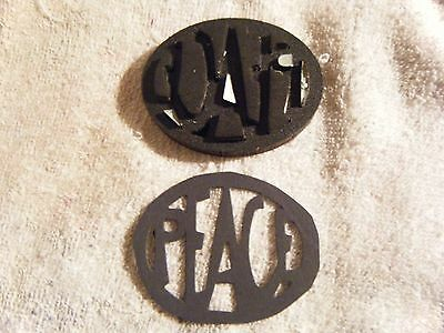 Sizzix Movers & Shapers Die Cutter Word Peace Oval Shaped Pre-Owned #206RS