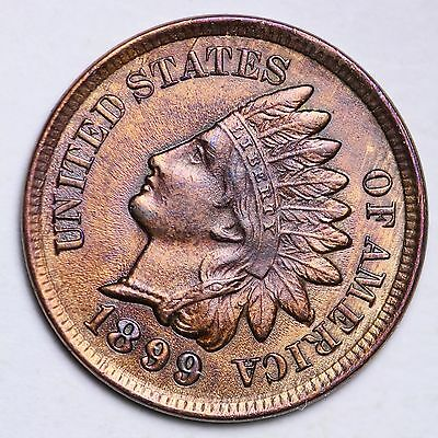 1899 Indian Head Cent Penny CHOICE UNC FREE SHIPPING E122 NT