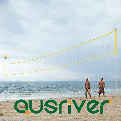 New Sturdy Painted Iron Tube Frame Beach Volleyball Set Xmas Gift Helston 001YLW