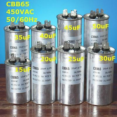CBB65 15-50uF AC 450V 50/60HZ Start Motor Capacitor Air Conditioner Compressor