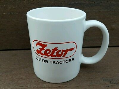 ZETOR TRACTOR White Coffee Mug ☆ NEW ☆ 1999 ☆