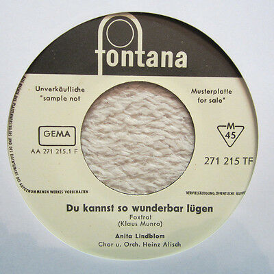 Single / ANITA LINDBLOM / SCHLAGER 1963 / MUSTERPRESSUNG / RARITÄT / DE PRESS /
