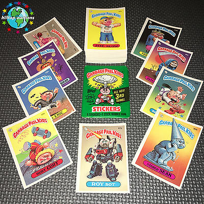 GARBAGE PAIL KIDS 3rd SERIES 3 COMPLETE NO-COPYRIGHT 88-CARD SET 1986 +WRAPPER