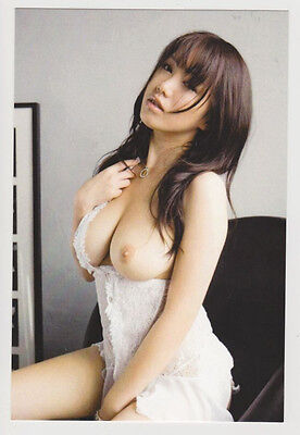 Postcard Nude Sexy Pinup Girl Topless Breast Lovely Asian Photo Post Card 7082
