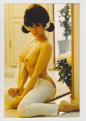 Postcard Nude Sexy Girl Topless Breast Woman Chinese Asian Lovely Post Card 5226