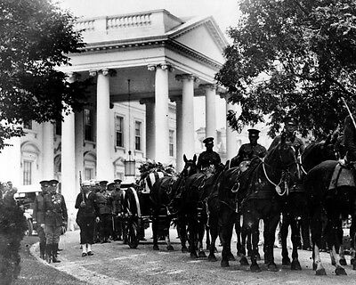 New 8x10 Photo: Funeral Cortege of President Warren G. Harding at White House