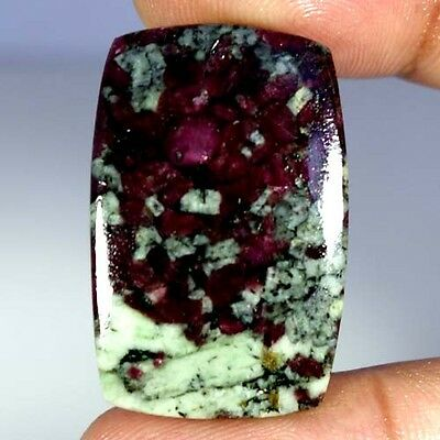 29.20Cts AAA 100% NATURAL RED GREEN EUDIALYTE CUSHION CABOCHON RUSSIAN GEMSTONES