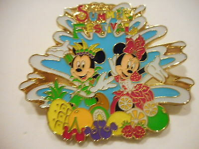 Mickey Mouse & Minnie Mouse Disney's  Tokyo Summer Festival Disney Pin