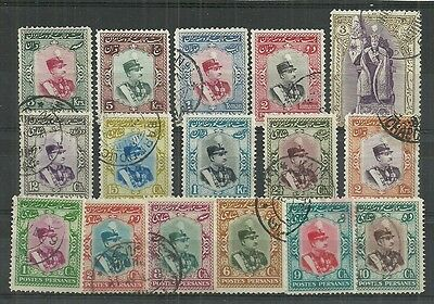 Middle Eastern Stamps #744-759 Set Of 16 (Used) From 1929.