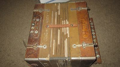 Koch Harmonica Button Accordion - Made in Germany - Works great!!