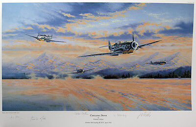 """Caucasus Dawn"" signed by 4 Luftwaffe pilot's - 3 awarded the Knight's Cross"