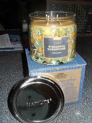 Partylite PINEAPPLE SUGARCANE SIGNATURE 3-wick JAR CANDLE  BRAND NEW FALL 2016