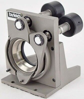 Burleigh Instruments 2-Axis Optical Stage Mount w/2x Starrett 1263 Micrometer