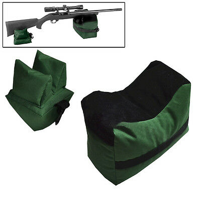 Outdoor Hunting Shooting Bag Set Rifle Gun Rest Range Gear Front Rear Bags