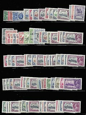 British Cols stamps 1935 Silver Jubilee omnibus complete ex Egypt MLH
