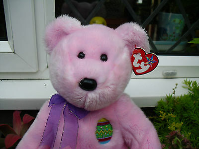 Lovely Ty Buddy Bear Eggs With Paper  Tag