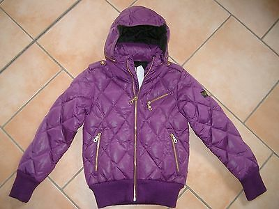 (J120) Finger in the Nose Girls Daunen Jacke Winterjacke in Glanzoptik gr.140