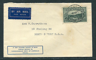 New Guinea  1940 5D Bulolo Commercial Cover To Sydney.fine