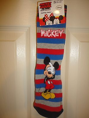 Mickey Mouse Slipper Socks UK 12.5 - 3.5  EUR 31 - 34
