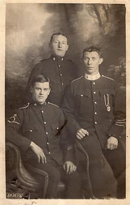 Pre WW1 1st County of London Yeomanry Regiment Soldiers RP Postcard Jan 1913