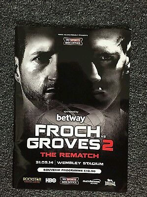 froch vs groves 2 official fight programme and tshirt with entrance ticket